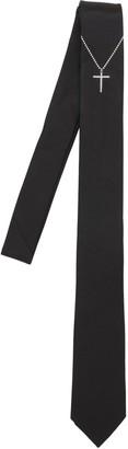 Neil Barrett Cross Printed Silk Tie