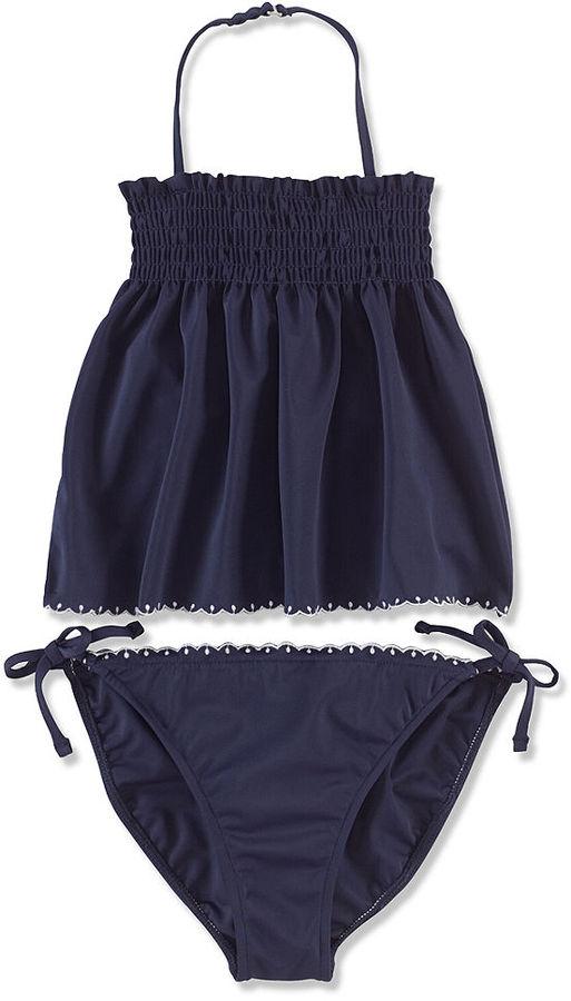 Ralph Lauren Little Girls' 2-Piece Embroidered Tankini Swimsuit
