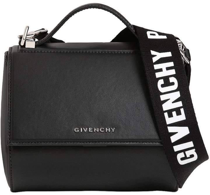 Mini Pandora Box Logo Strap Leather Bag