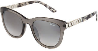Chopard Rounded Two-Tone Acetate/Metal Sunglasses