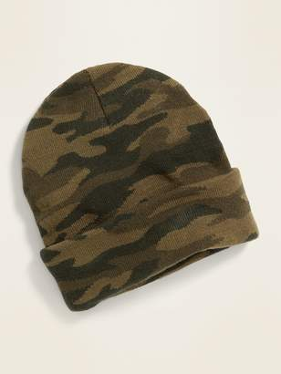 Old Navy Camo Rolled-Cuff Beanie for Men