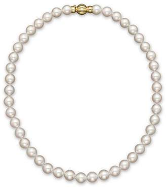 Bloomingdale's 14K Yellow Gold Cultured Akoya Pearl Necklace, 17""
