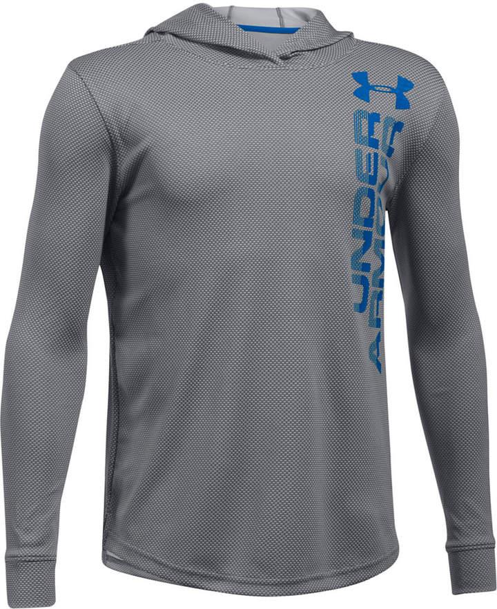 Two-Tone UA Techandtrade; Hooded Shirt, Big Boys