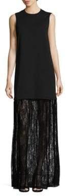 McQ Lace Hem Maxi Dress