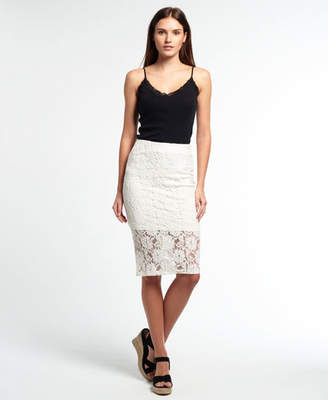 Superdry Eastern Lace Pencil Skirt