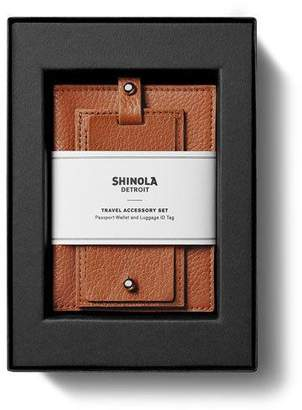 Shinola Men's Leather Travel Boxed Gift Set