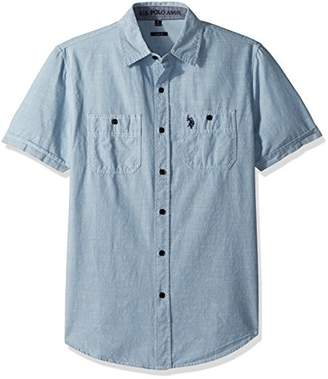 U.S. Polo Assn. Men's Short Sleeve Slim Fit Solid Shirt