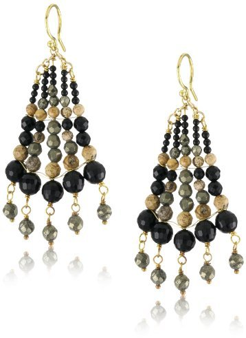 Chan Luu Graduated Semi Precious Stone Earrings
