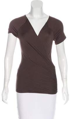 Max Mara Ruched Surplice Neck Top