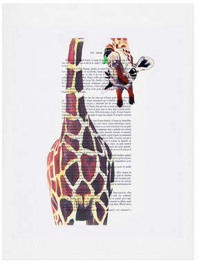 Wayfair 'Funny Giraffe' by Coco De Paris Graphic Art