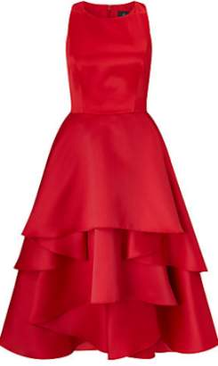 Adrianna Papell Persimmon Red Cocktail Dress