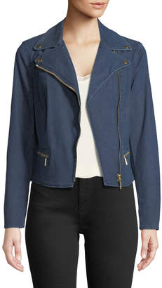 MICHAEL Michael Kors Denim Moto Jacket