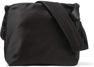 The Row Wander Small Satin Shoulder Bag - Black