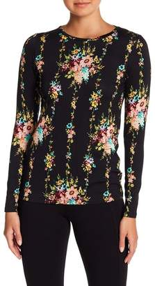 Philosophy Apparel Floral Long Sleeve Crew Neck Shirt