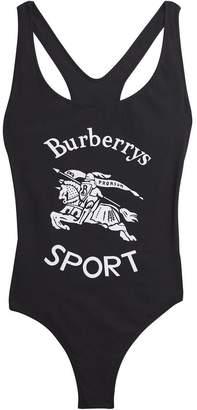 Burberry Archive Logo Print Swimsuit