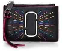 Marc Jacobs Women's Top Zip Leather Wallet - Black