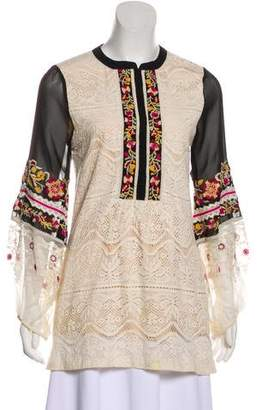 Vineet Bahl Embroidered Lace Blouse