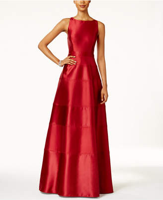Adrianna Papell Satin Paneled Racerback Gown $199 thestylecure.com