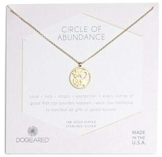 Dogeared Circle of Abundance Necklace