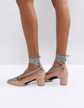 Miss KG April Gingham Lace Up Block Court