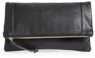 Sole Society 'Marlena' Faux Leather Foldover Clutch - Black $39.95 thestylecure.com