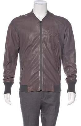 Diesel Black Gold Embossed Leather Jacket