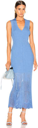 Victoria Beckham V Neck Rib Dress