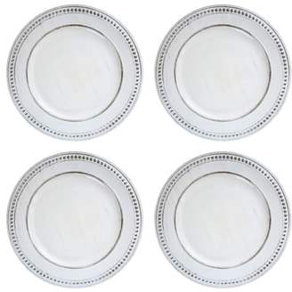 American Atelier Set of 4 Beaded Antique Charger Plates
