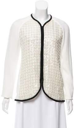 Giorgio Armani Silk Embellished Jacket w/ Tags