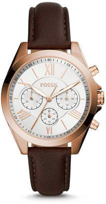 Fossil Modern Courier Chronograph Brown Leather Watch