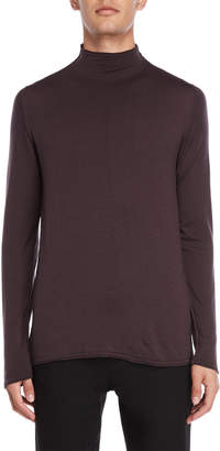 Transit Uomo Mock Neck Long Sleeve Tee