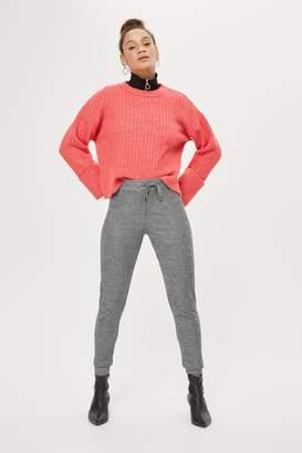 Topshop Textured Slim Track Pants