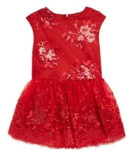 Halabaloo Little Girl's & Girl's Sequin Fit-&-Flare Dress