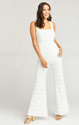 Show Me Your Mumu Judy Jumpsuit ~ One and Only Lace White