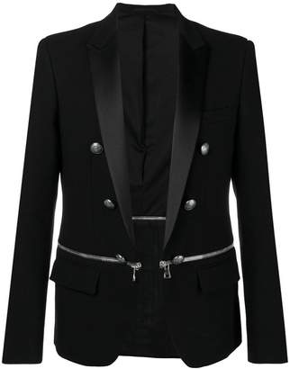 Balmain zip embellished jacket