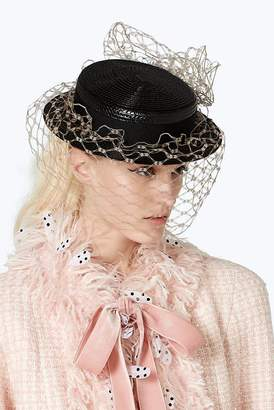 Marc Jacobs x Stephen Jones Millinery Boater Hat with Veil