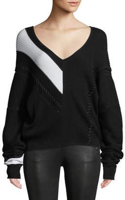 Rag & Bone Cricket V-Neck Long-Sleeve Knit Sweater