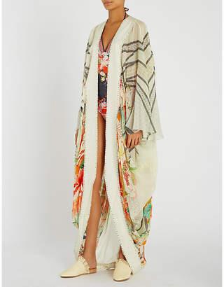 Camilla Maikos Midnight silk-georgette jacket