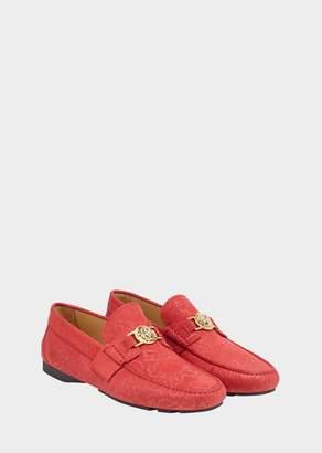 Versace Mock Python Medusa Loafers