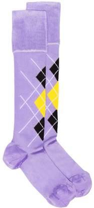 Versace Checked High Socks