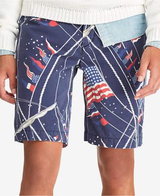 "Polo Ralph Lauren Men's Big & Tall Classic Fit Americana 10"" Shorts"