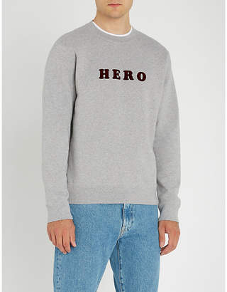 Sandro Hero cotton-jersey jumper