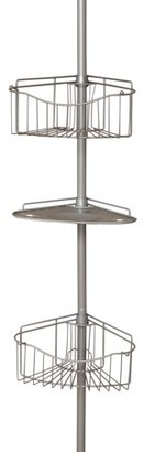 Mainstays Tension Pole Shower Caddy, Satin Nickel