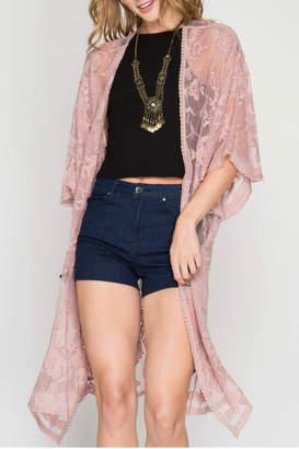 She + Sky Mini Duster Kimono $46 thestylecure.com