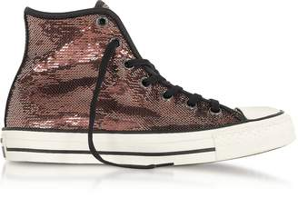 Converse Limited Edition Chuck Taylor All Star High Distressed Ox Copper & Black Sequins Sneakers