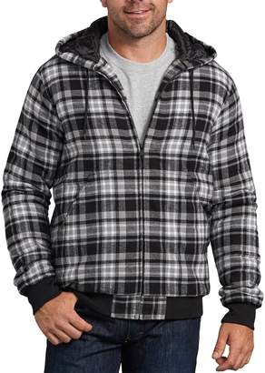 Dickies Big & Tall X-Series Modern-Fit Plaid Hooded Bomber Shirt Jacket