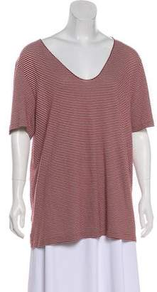 AllSaints Striped Short Sleeve Top