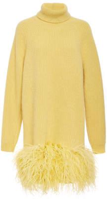 N°21 N 21 Silvana Feather Hem Knit Dress