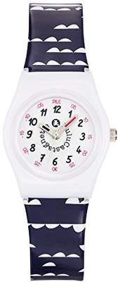 Lulu Castagnette Girl's Quartz Watch with White Dial Analogue Display and Plastic Multicolour - 38806
