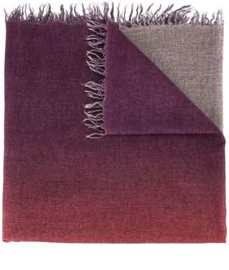 Faliero Sarti two-tone frayed scarf